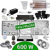 Kit de cultivo interior 600W SHP Cooltube Protube - Armario 145x145x200 - Balastro ETI 2