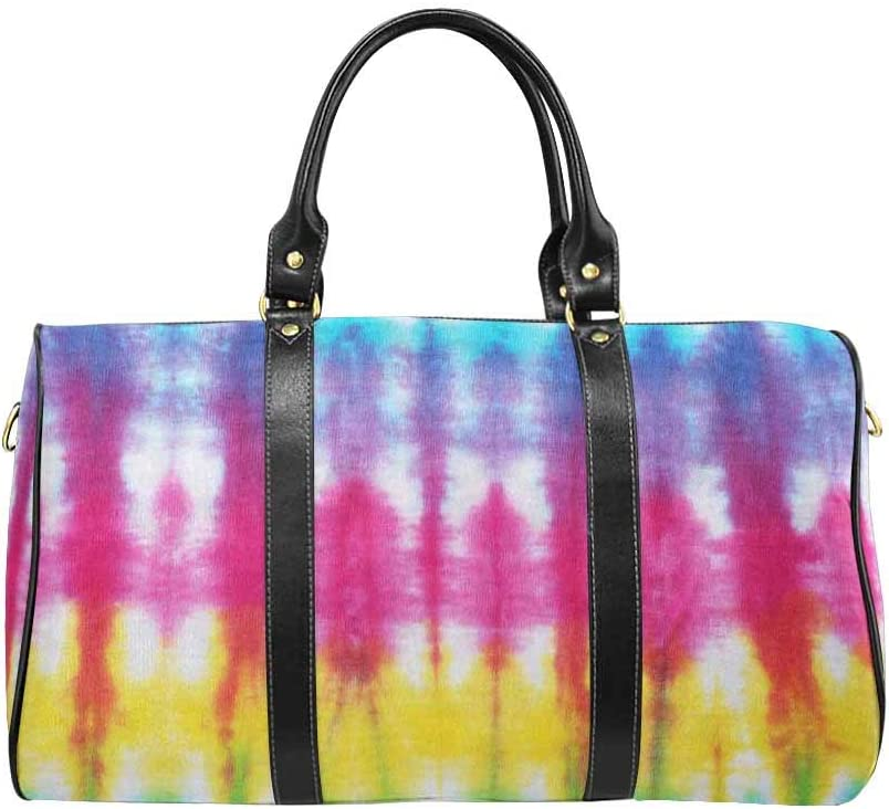 InterestPrint Unisex Duffel Bag Carry-on Bag Overnight Bag Weekender Bag Tie Dyed Fabric Background