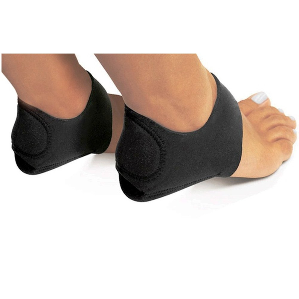 PU Health Pure Acoustics Shock-Absorbing Plantar Fasciitis Therapy Wraps with Gel, Black, 8.50 Gram