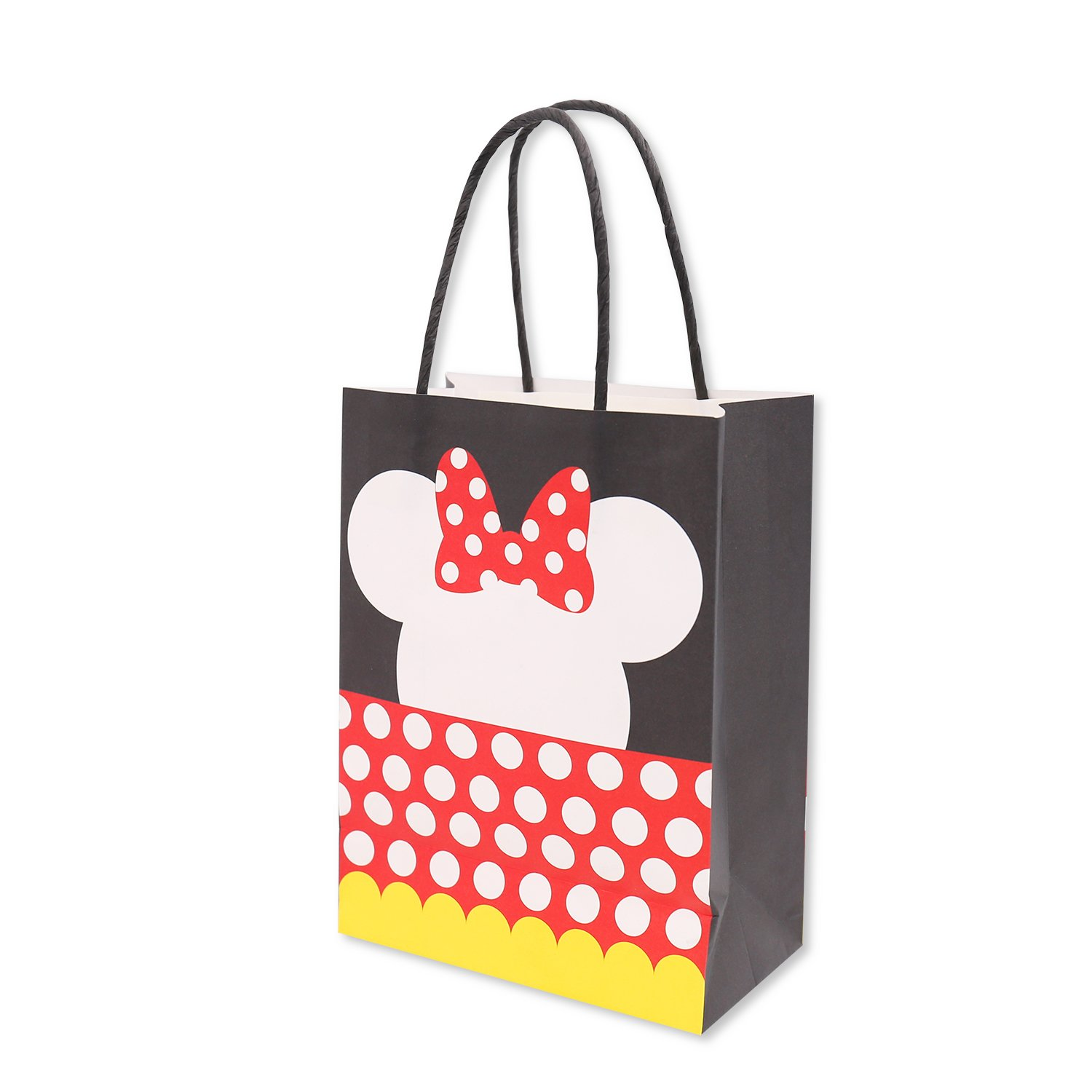 Minnie Inspired Paper Gift Bags for Kids Birthday Party Favor Supplies Pack of 12