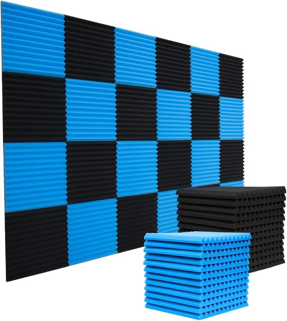 24 Pack Acoustic Panels Studio Foam Wedges 1