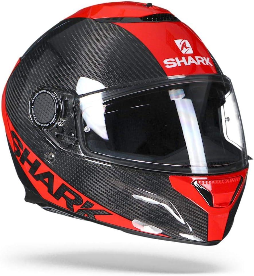 Noir//Blanc Shark Casque moto SPARTAN CARBON 1.2 SKIN DWS L
