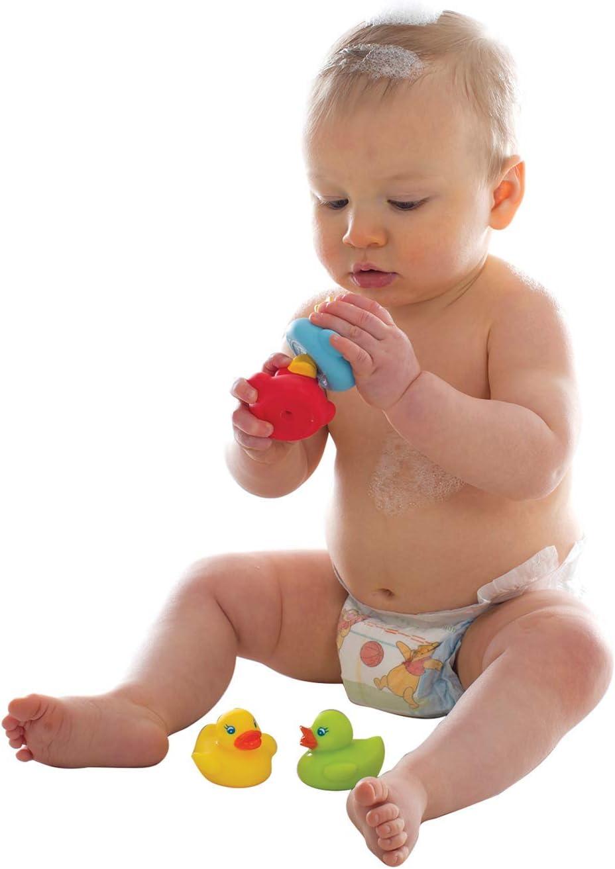 Imperm/éables et sans impuret/és Enti/èrement /étanches 4 pi/èces Color/és 40213 Jouets de bain pour B/éb/és Playgro Jouets de Bain Amis Nageurs Sans BPA D/ès 6 mois