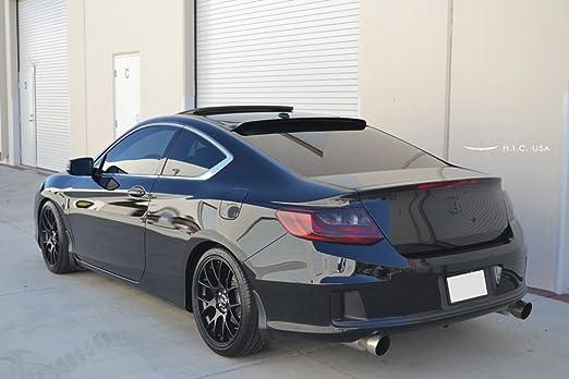 Glossy Black HIC USA 2013 to 2017 Accord 2 Door Rear Visor