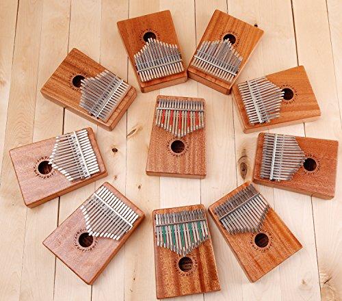 Gecko Kalimba 17 Key with Mahogany,Portable Thumb Piano Mbira/Marimba Sanza of Wooden Attached Ore Metal Tines - Image 6