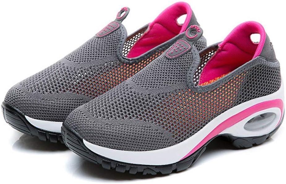 LILICAT✈✈✈✈ Para Mujer Respirable Malla Aptitud Zapatillas Casual Boca Baja Aumentados Zapatillas de Deporte: Amazon.es: Deportes y aire libre