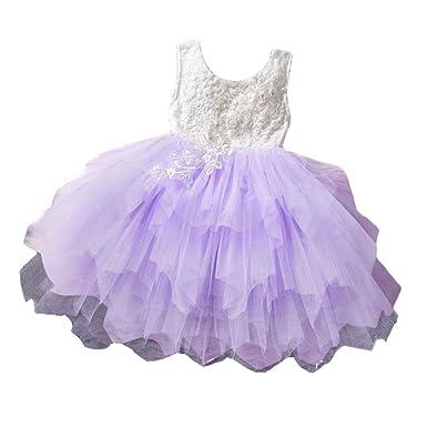 Baby Mädchen Kleid Spitze Backless Sommerkleid Prinzessin Kleid ...