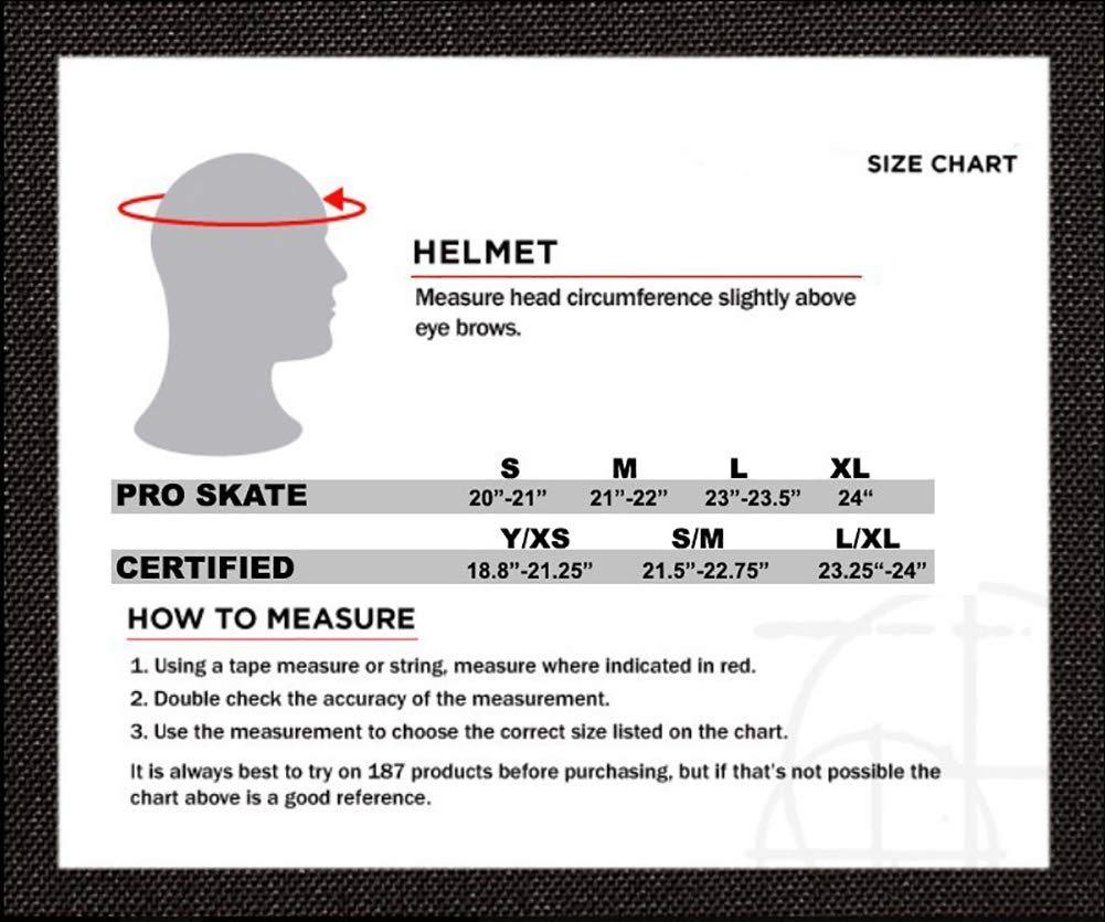 Size XL,Charcoal Matte 187 Killer Pads Pro Skate Helmet w//Sweatsaver Liner