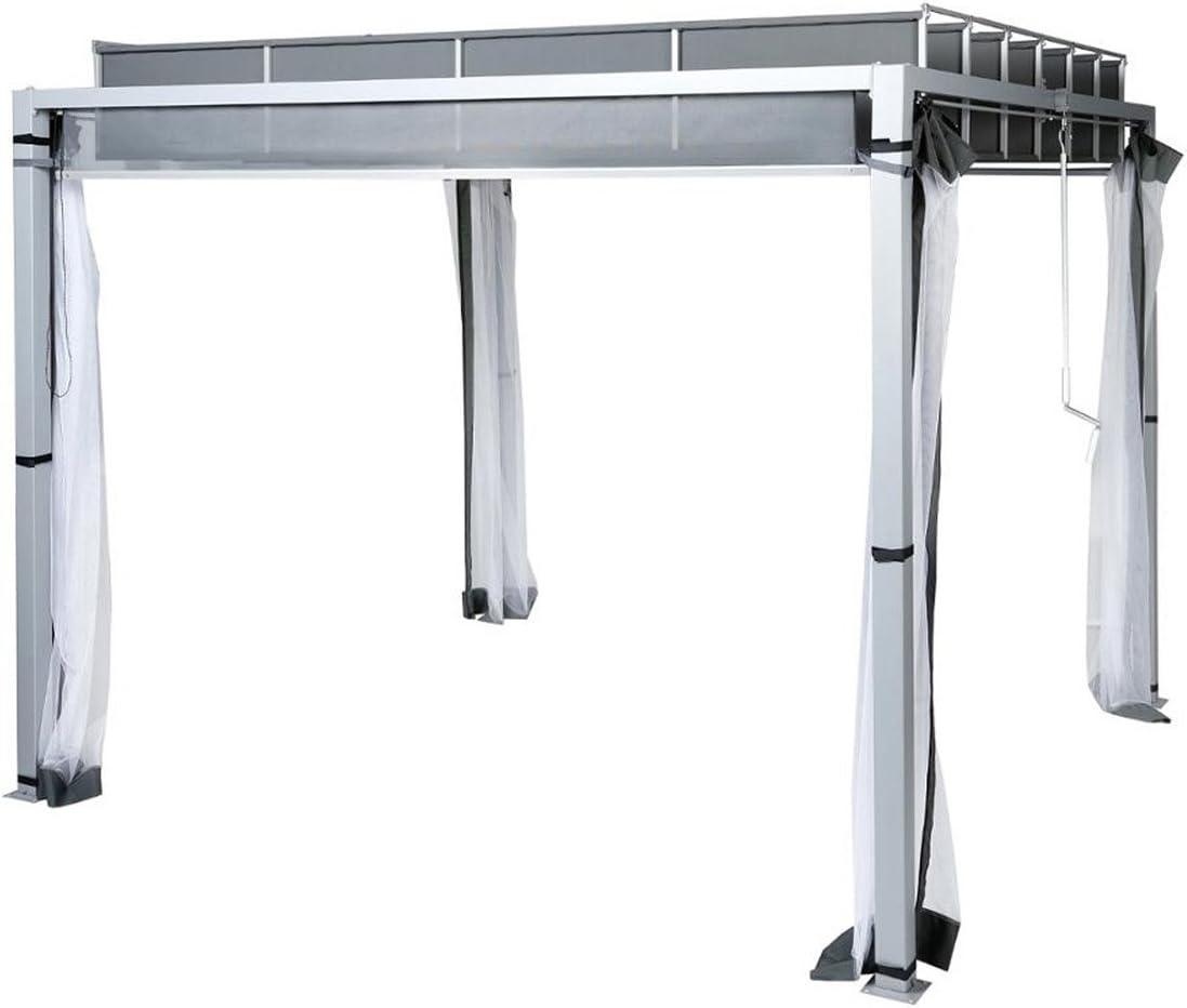 Cenador Murcia – 3 x 3 M. – Plata Mate: Amazon.es: Hogar