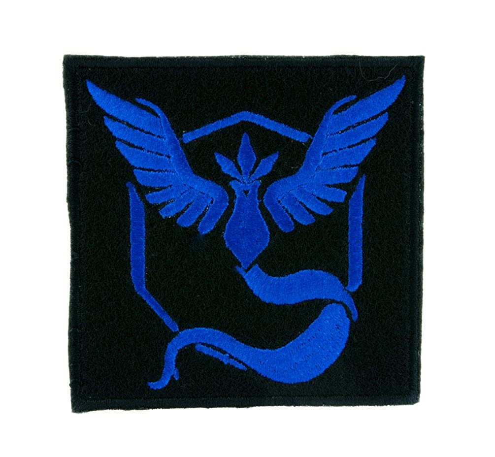 Team Mystic Blue Pokemon Go Patch Iron on Applique Alternative Clothing Pikachu
