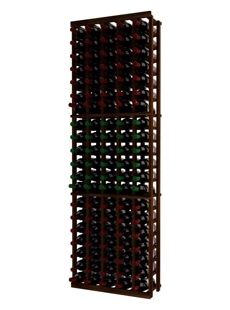 Wine Cellar Innovations RP-DW-5COL-A3 Traditional Series 5 Column Wine Rack, Rustic Pine, Dark Walnut Stain