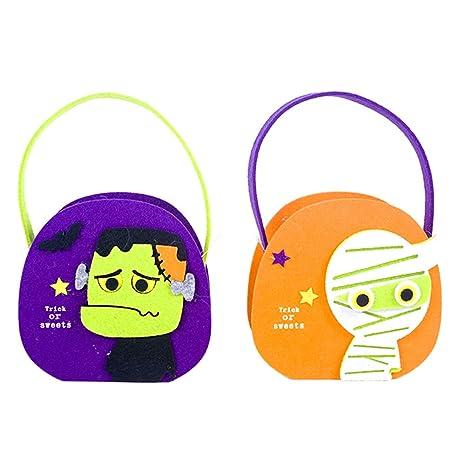 SUGERYY 2 Bolsas de Caramelos de Halloween para Dulces o ...