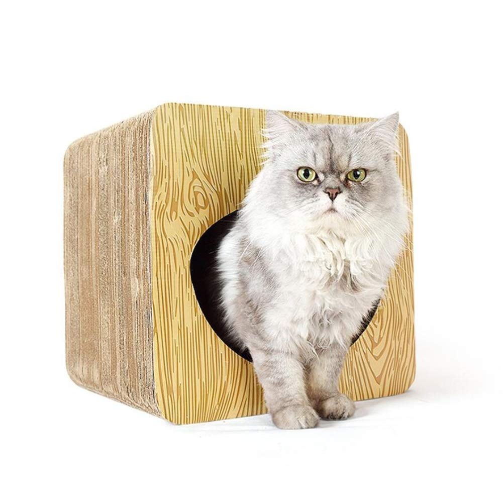 LSS Cat Scratch Board, Casa dei Gatti, Consiglio Rettangolare, Carta Ondulata, Forniture per Gatti da Compagnia