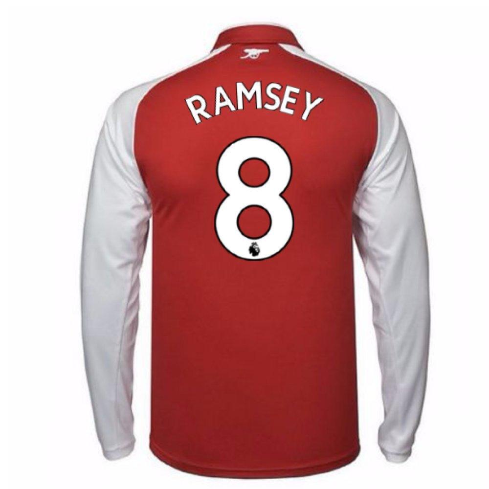 2017-18 Arsenal Home Long Sleeve Shirt Kids (Ramsey 8) B077PRX5SW Small Boys 24/26