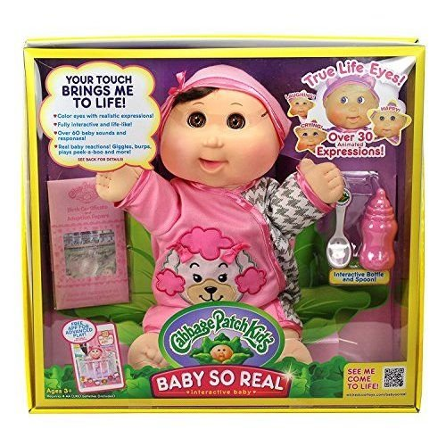 Cabbage Patch Kids 14 Baby so Real Brunette FBA_36302