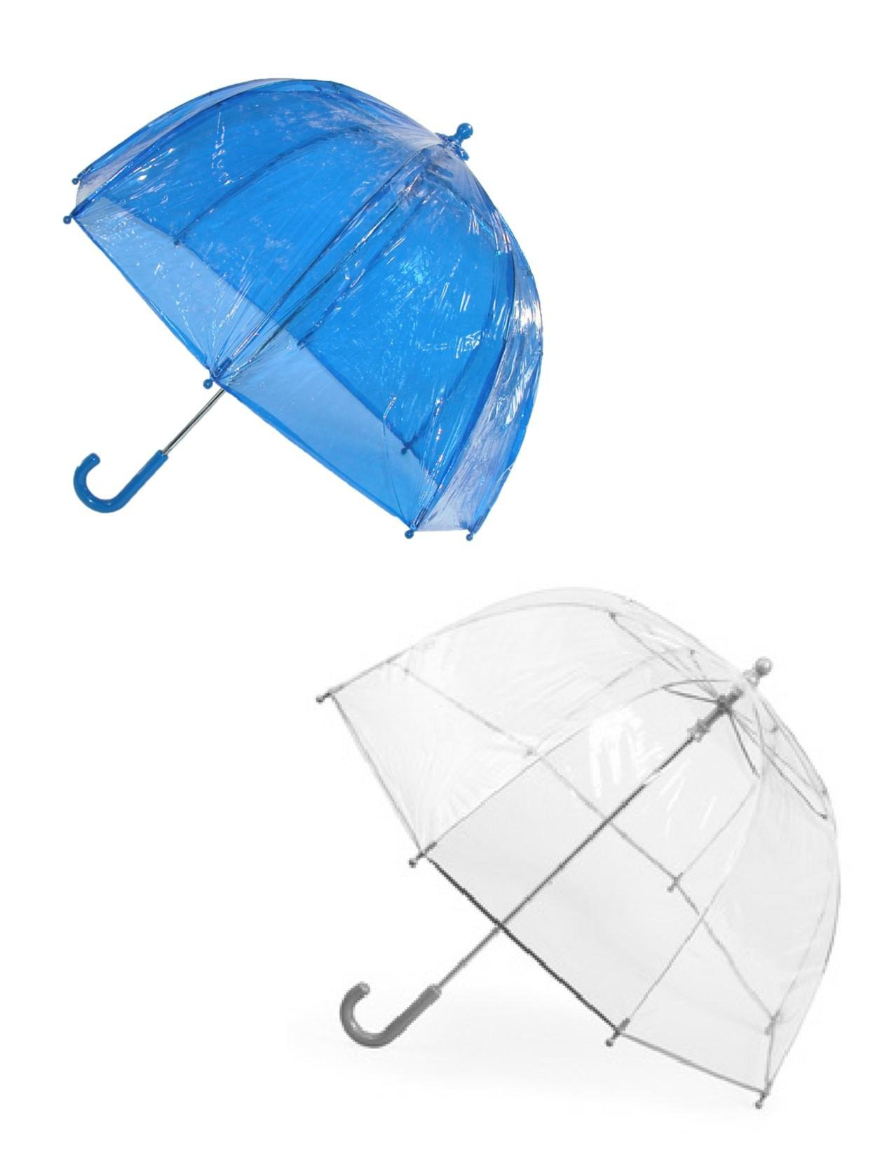 totes ISOTONER Kids Clear Bubble Umbrella (Pack of 2), Blue/Clear by totes