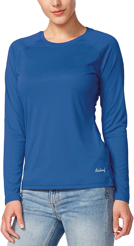 BALEAF Women's UPF 50+ Sun Protection T-Shirt SPF Long/Short Sleeve Outdoor Performance Hiking Shirt