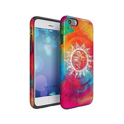 Amazon Com Henna Colourful Sun Moon Mandala Hard Plastic Shell