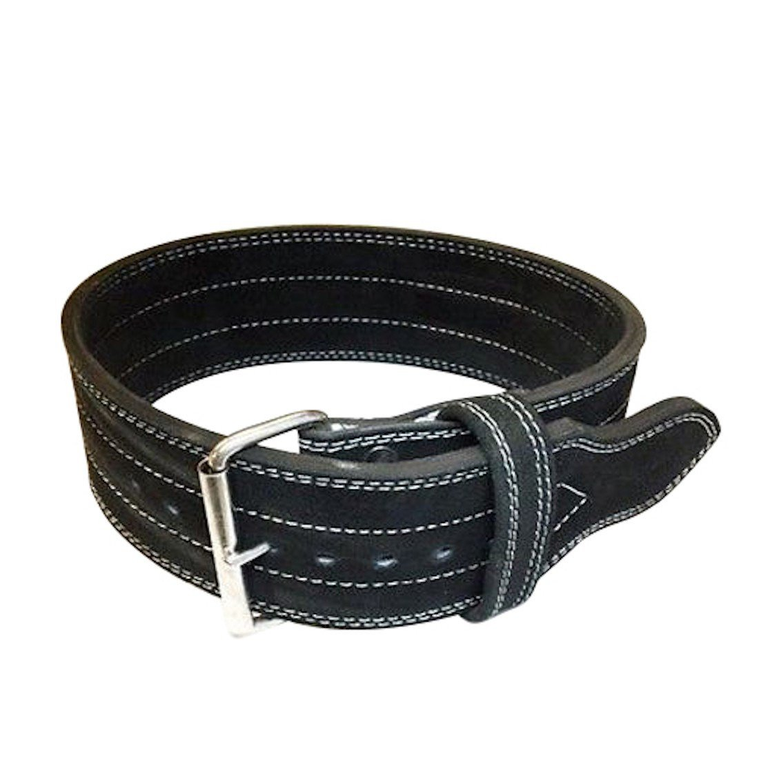 Flexz Fitness Single Prong Closure Powerlifting and Weightlifting Belt, 10mm, Black, Size Large