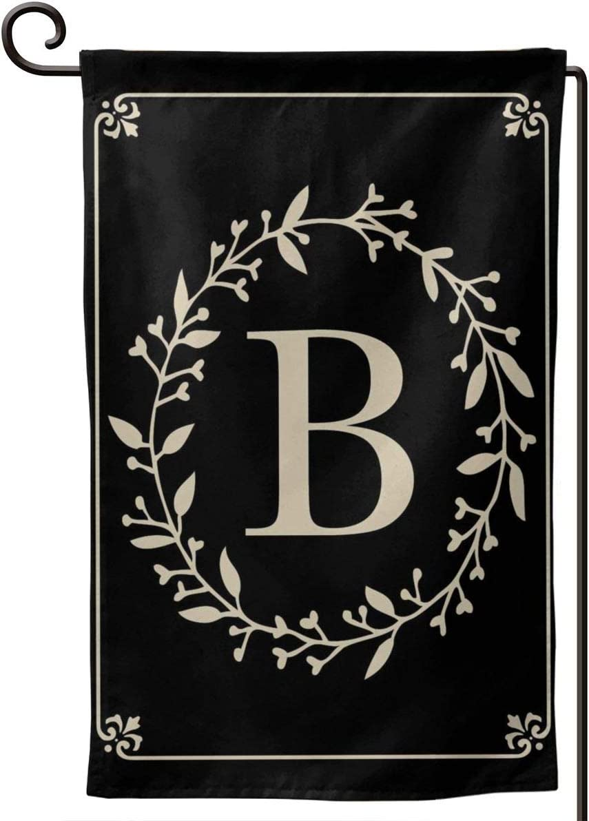 MSGUIDE Garden Flag Vertical Double Sided 12.5 X 18 Inch, Monogram Letter B Welcome House Flag Weather Resistant Banner for Seasonal Yard Outdoor Home Decor