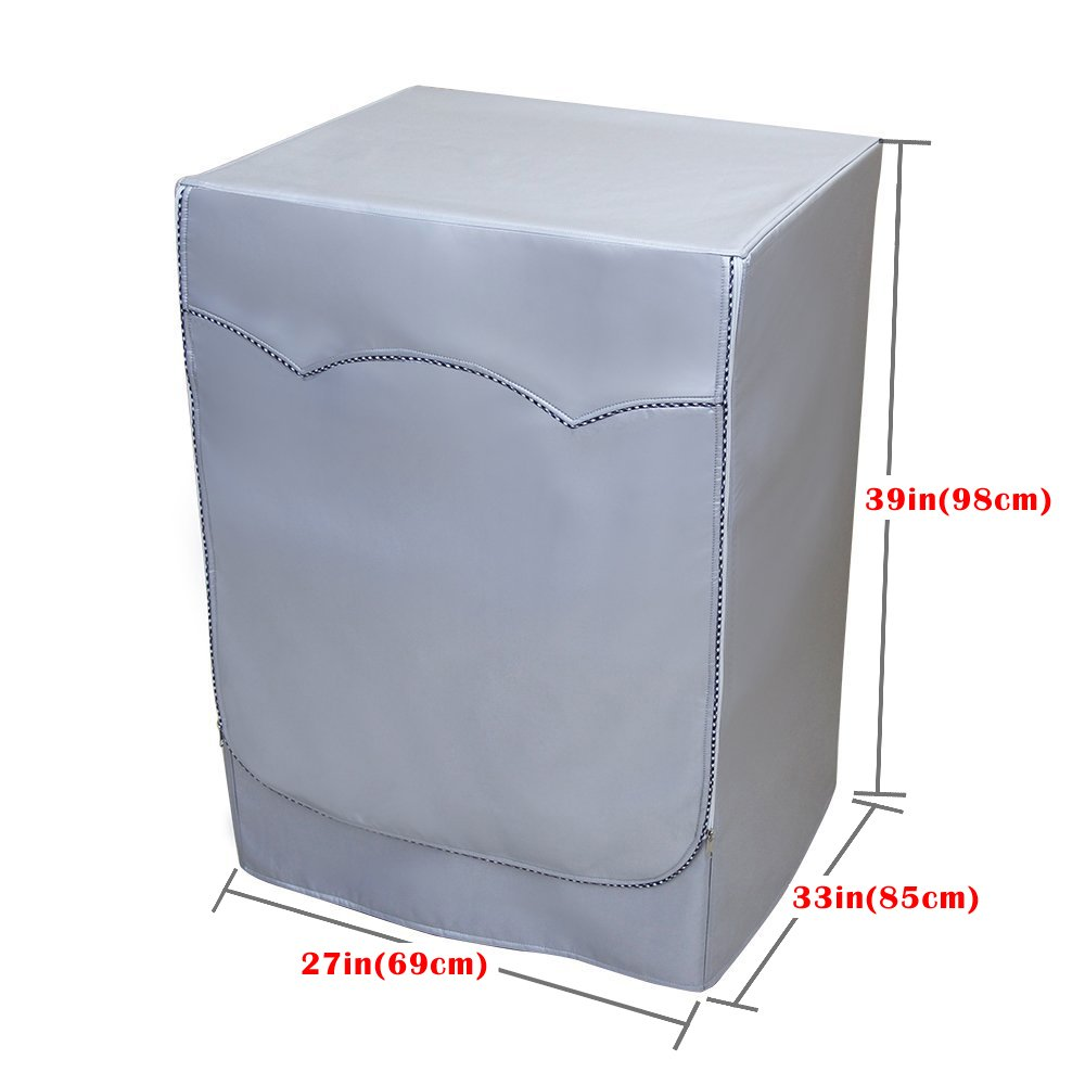[Mr.You]Washer/Dryer cover For Front-loading machine Waterproof dustproof Thicker (W27''D33''H39''in, No lace)