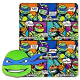 Nickelodoeon Teenage Mutant Ninja Turtles, Good Guys Leo Fleece Throw Blanket in Pocket Set, 40'' x 50''