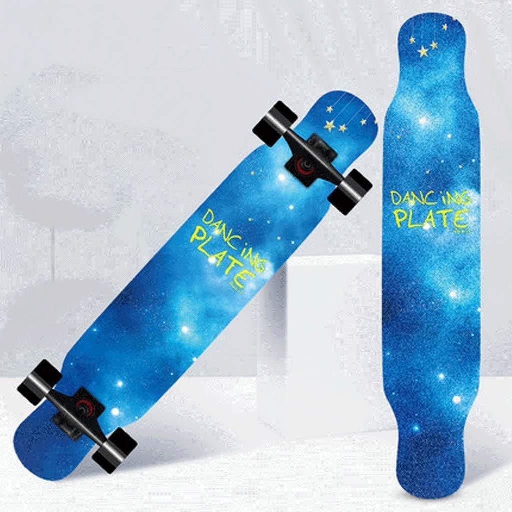 スケートボード 両面パターン両側傾斜板ストリートスケートボード高強度スケートボードロングボードスケートボード (Color : Galaxy) Galaxy