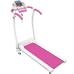Murtisol Folding Treadmill Electric Running Exercise Machine with Safe Handlebar
