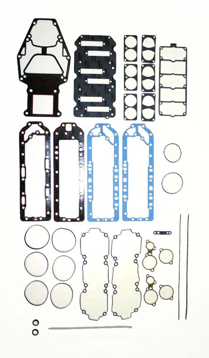 MERCURY Sport Jet 175 HP with O-Ring Heads Complete Power Head Gasket Kit WSM 500-221-01 OEM# 27-804852A1 by Pwc Engine
