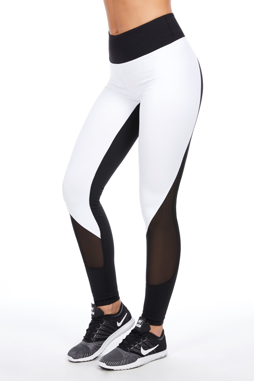 Leggings de mujer deportivos blanco/negro | pantalón chándal ...