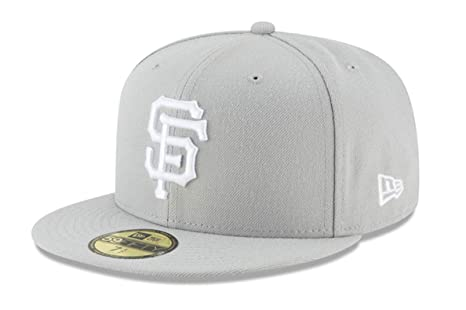 963eaa18c0ee7d New Era 59Fifty Hat San Francisco Giants Basic Gray Fitted Cap 11194675 (7  1/