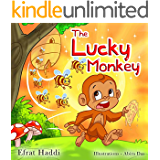 """Children's books : """" The Lucky Monkey """",( Illustrated Picture Book for ages 3-8. Teaches your kid the value of thinking before acting),Beginner readers,Bedtime ... (Children's books-The Lucky Monkey 1)"""