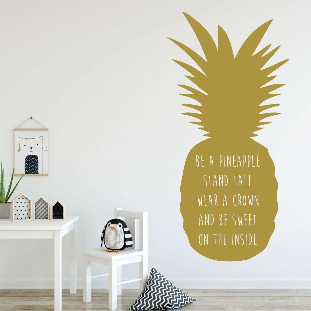 Amazon.com: Pineapple Wall Decor - Be A Pineapple Stand Tall - With ...