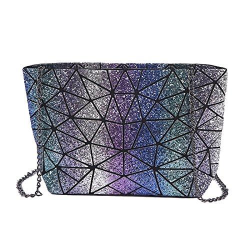 QQWE Multicolor Glitter Hombro Cadena De Damas Bolsa Messenger Bag Embrague Bolso Crossbody Bolso Casual Bolsos De Mujer Con Lentejuelas A