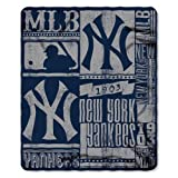 The Northwest Company NW-203990 MLB New York Yankees Strength Printed Fleece Throw, 50-inch by 60-inch