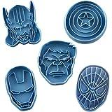 Cuticuter Supereroi Marvel Pack di Biscotti, Blu, 16x 14x 1.5cm, 5Pezzi