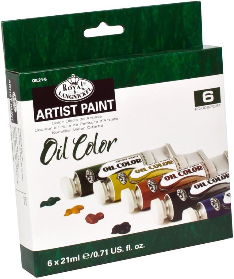 Royal & Langnickel OIL21-6 - Pack de 6 pinturas al óleo de 21ml: Amazon.es: Oficina y papelería