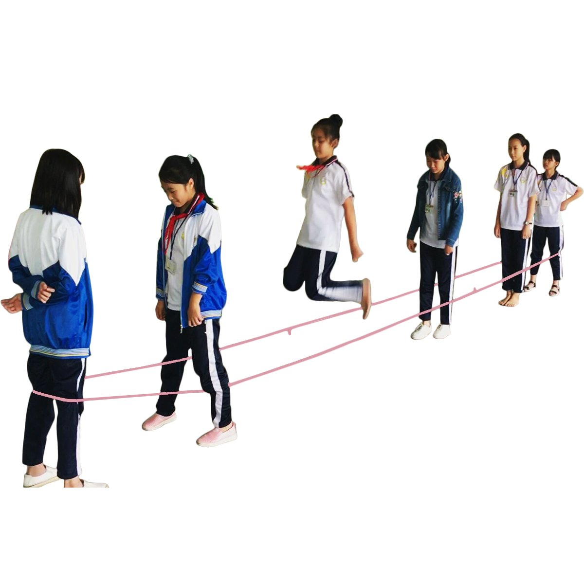 22-foot Chinese Jump Rope for Kids - GreenMoon Long Rubber Chinese Jump Rope