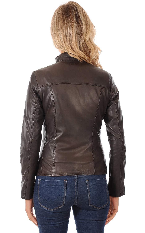 Skin2Fashion Womens Leather Jackets Motorcycle Bomber Biker Real Leather Jacket 30