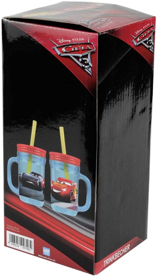 Cars 3 Trinkbecher mit Strohhalm