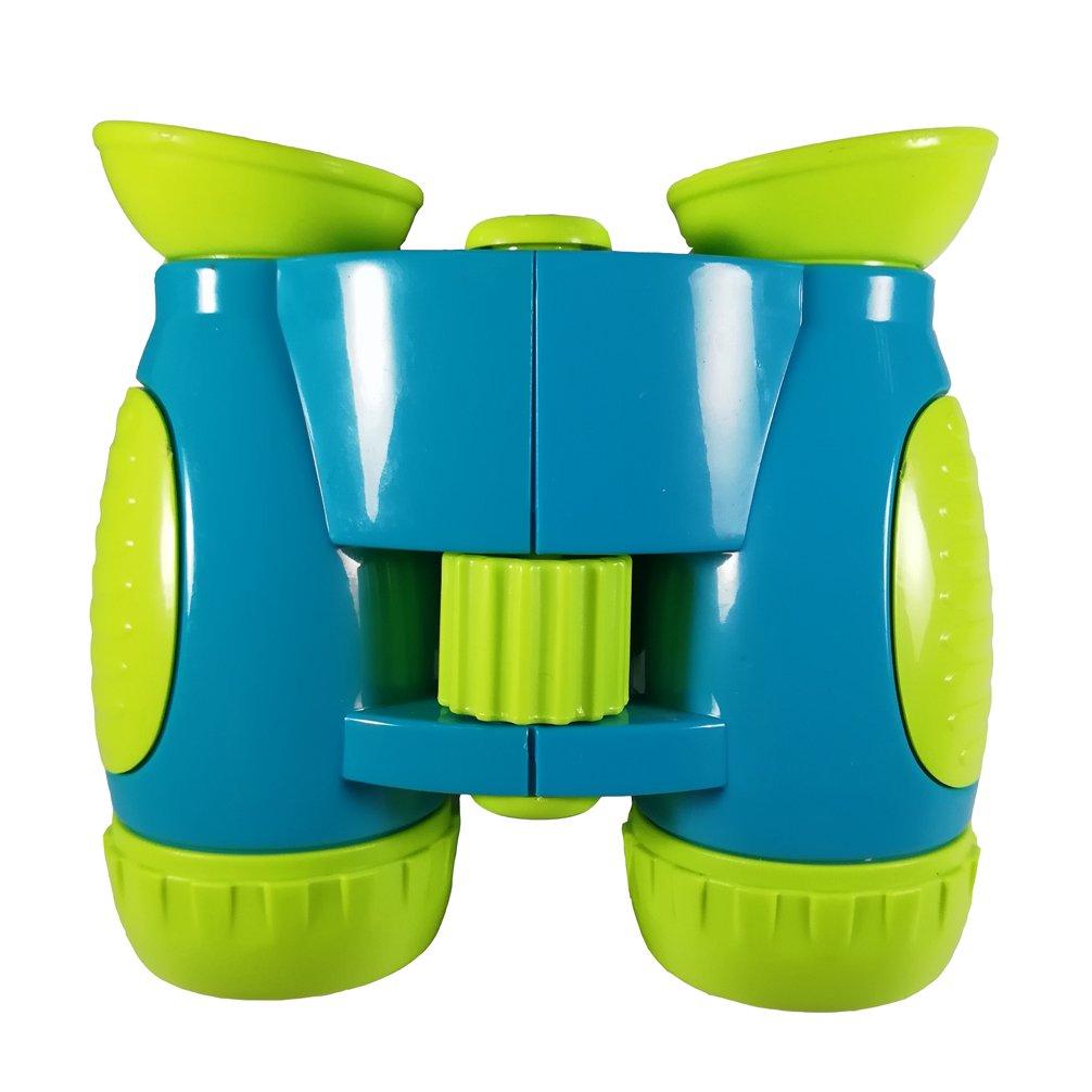 Luwint 5x30 Cartoon Kids Binoculars - Funny Compact Telescope for Bird Watching, Educational Learning, Outdoor Camp - Ideal Gift for Boys Girls (Blue) DreamsEden TM-KtWYJ-BL