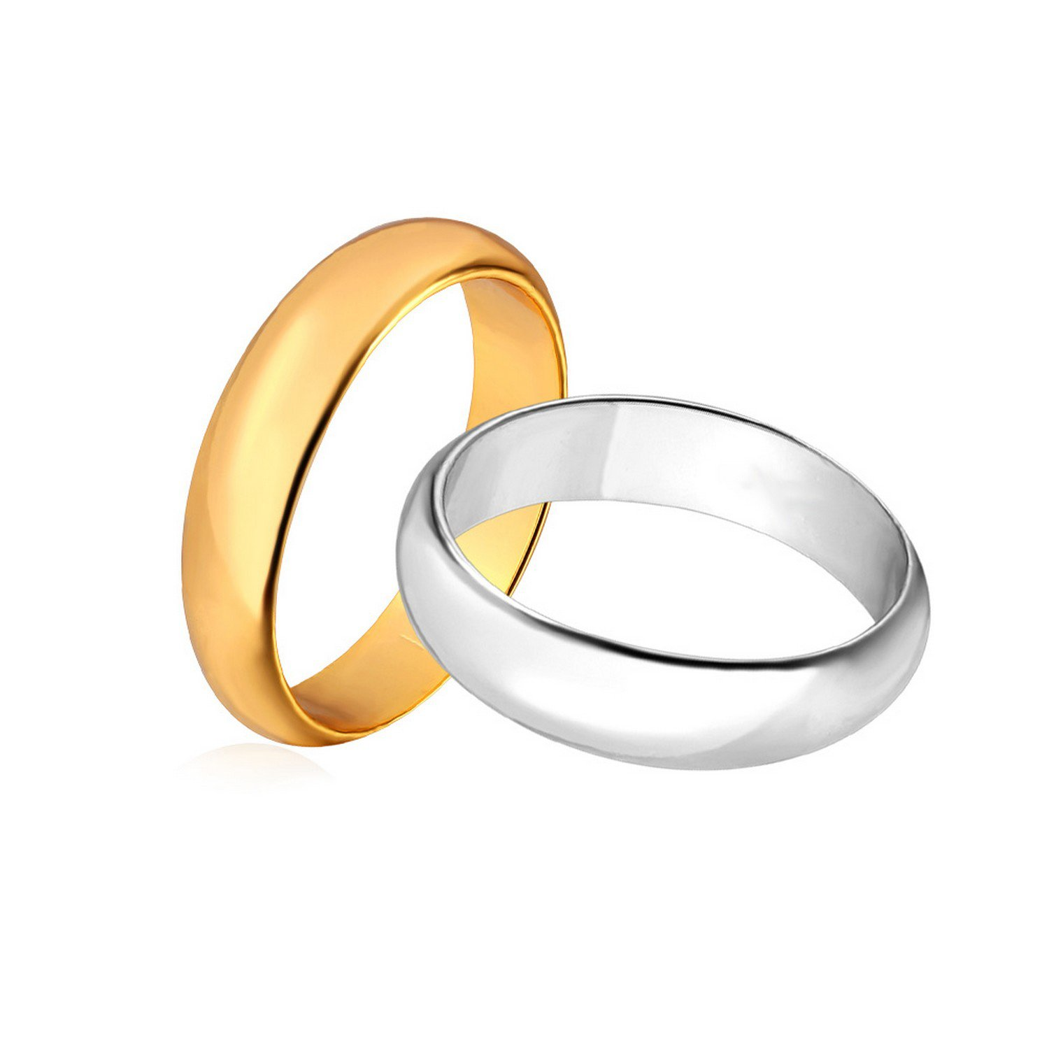 Dudee Silver//Gold Color Women//Men Jewelry Classic 3mm engagement rings fashion ring for women