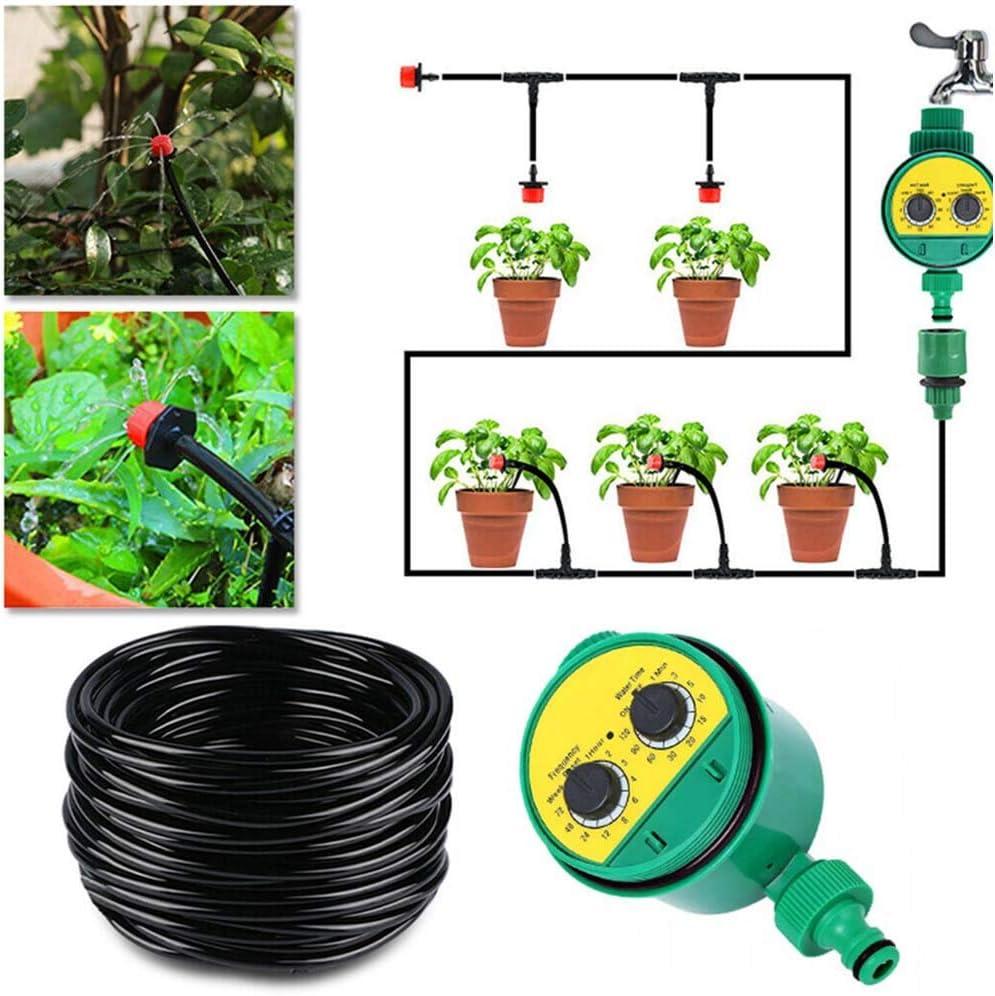 Prati 25 m Automatico di distribuzione del Giardino Kit di irrigazione per Giardini aiuole LIDEBLUE Sistema di irrigazione con Timer Digitale