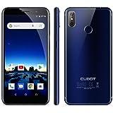 Cubot J3 Pro Smartphone 4g, 5.5 Pollici Android Go, Smartphone Dual Sim, Fingerprint Smartphone,MT6739 Quad Core 1.5GHz, 1GB RAM 16GB ROM, 13MP+2MP +5MP Fotocamera Cellulari- Blu