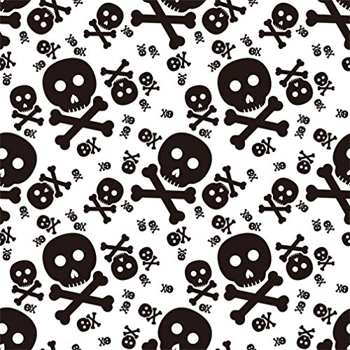 CSFOTO 8x8ft Halloween Background Skull Pattern Halloween Party Decoration Photography Backdrop Danger Symble Horror Terrible Celebrate Halloween Festival Holiday Children Photo Studio Props Wallpaper -