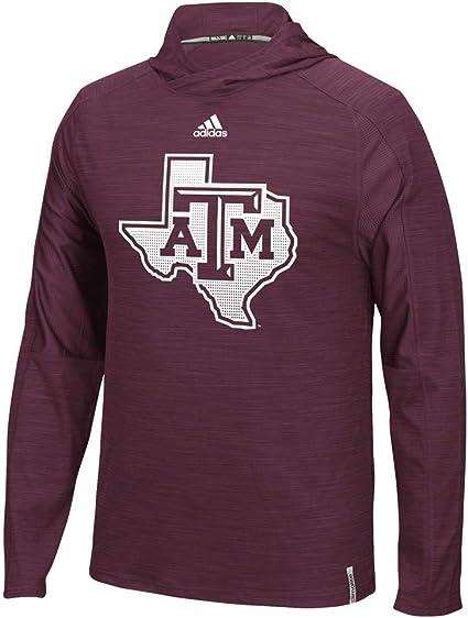 adidas NCAA Men/'s Texas A/&M Aggies Team Logo 1//4 Zip Pullover Black