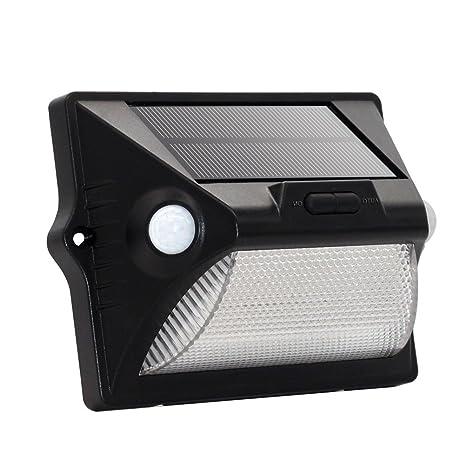 ledmomo luz exterior inalámbrico de Sensor de movimiento exterior de luces solares para el patio,