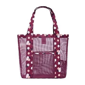 Fletion Mujer Niña De Moda Bolsas de playa bolso de hombro equipaje de mano al aire libre bolsos de viajes ...