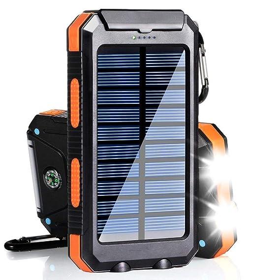 Amazon.com: Cargador solar portátil de 20000 mAh para ...