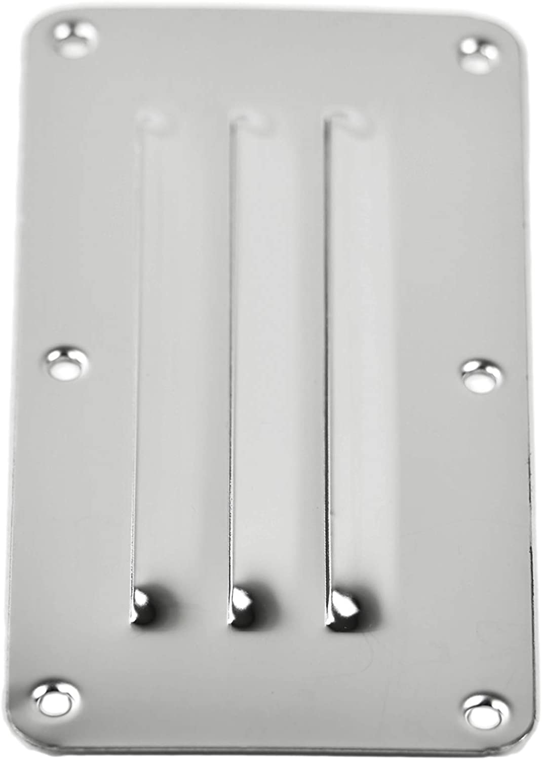 """MARINE CITY Stainless-Steel 2-1//2/"""" /× 5/"""" Rectangle Stamped Louvered Vent"""